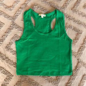 NWOT Zenana Outfitters Green Crop Top
